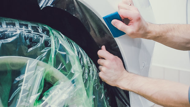 Professional installation of paint protection film in Edmonton. Clear bra and PPF installers