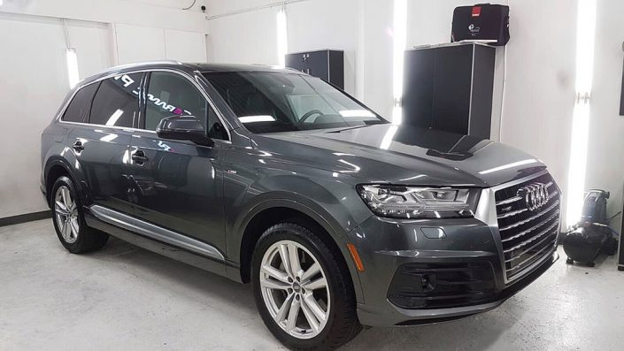 Audi Q7 is protected with Ceramic Pro nano coating in Edmonton