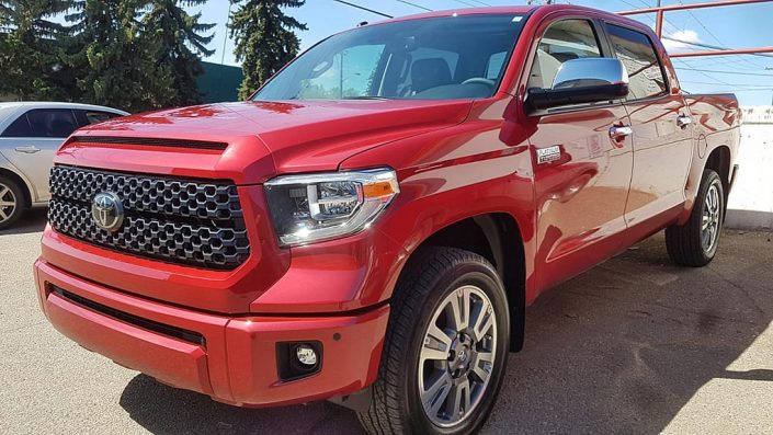 Toyota Tundra Limited is protected with Ceramic Pro nano coating in Edmonton