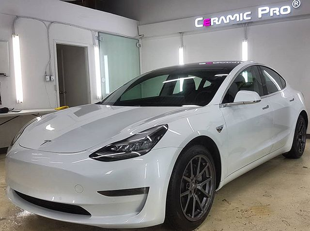 2018 Tesla Model 3 protected with XPEL Ultimate Plus Paint Protection Film in Edmonton, AB