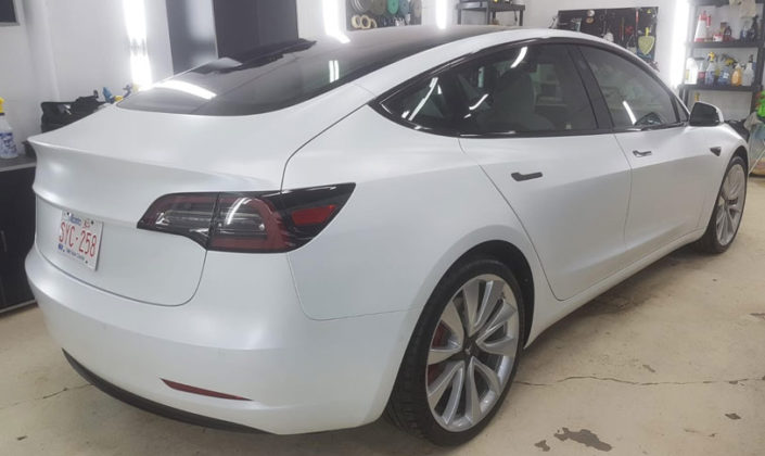 Tesla Model 3 Paint Protection in Edmonton, AB