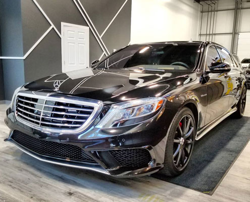 Paint correction MB S63 AMG in Edmonton